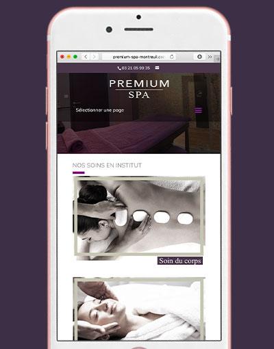 Premium Spa – Création de site