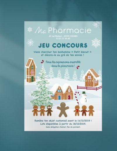 Flyer de Noël de la Pharmacie Maire